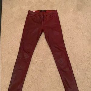 Coated red Joe's jeans size 24
